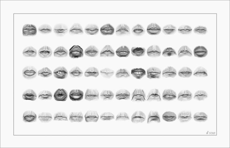 60 Mouths print