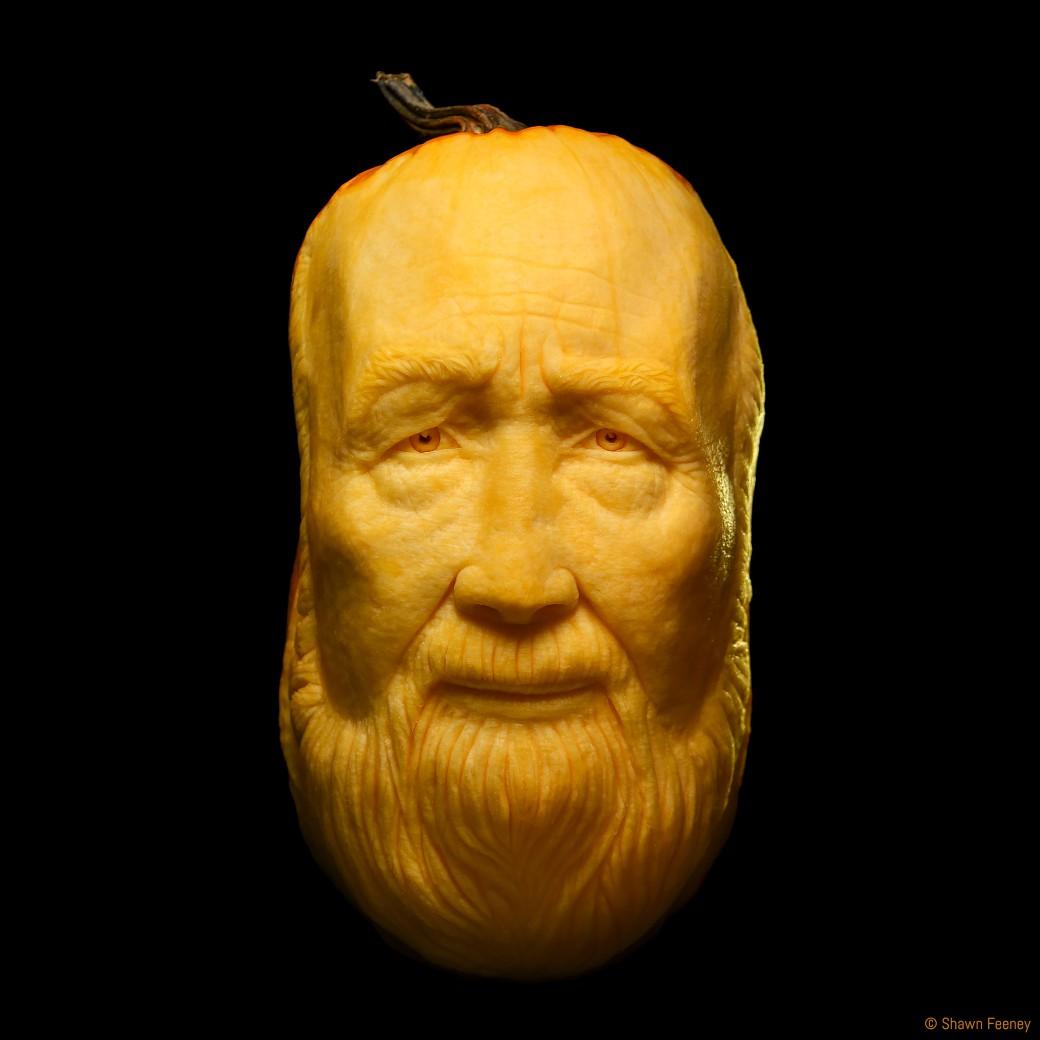 Pete Seeger Memorial Jack-o-lantern