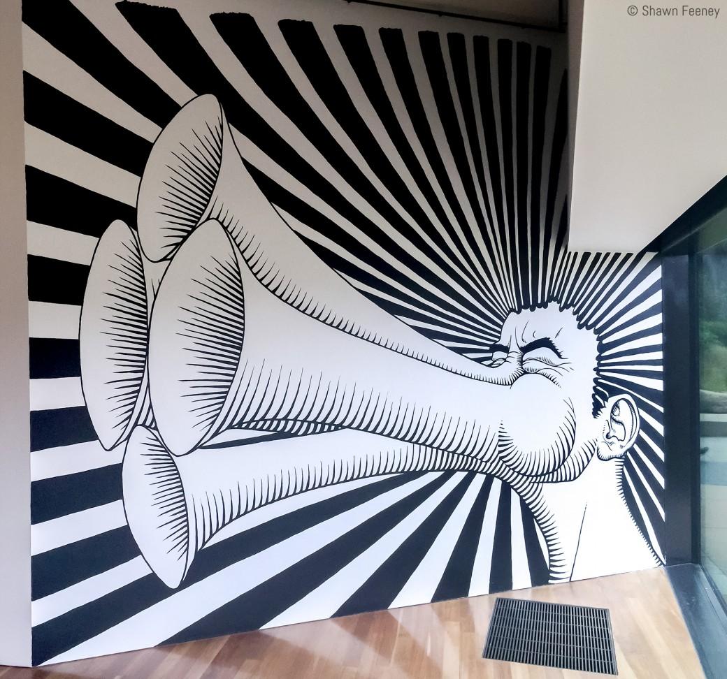 de Young mural by Shawn Feeney