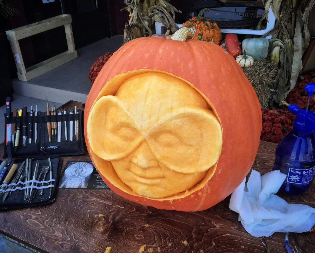 Aurcle pumpkin in progress